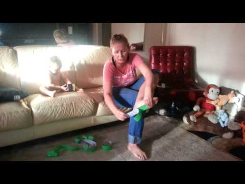 Eartha Baca, Zumba Instructor, Demonstrates how to use KT Tape for Plantar Fasciitis