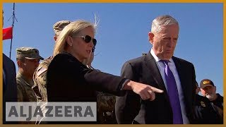 🇺🇸Jim Mattis visits troops stationed at US-Mexico us border | Al Jazeera English - ALJAZEERAENGLISH