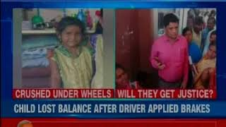 In a tragic incident, a six-year-old girl killed after she fell down from a school bus in Hyderabad - NEWSXLIVE
