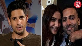 Sidharth Blushes When Asked About His Video For Alia | Sonam – Anand Holidaying In States