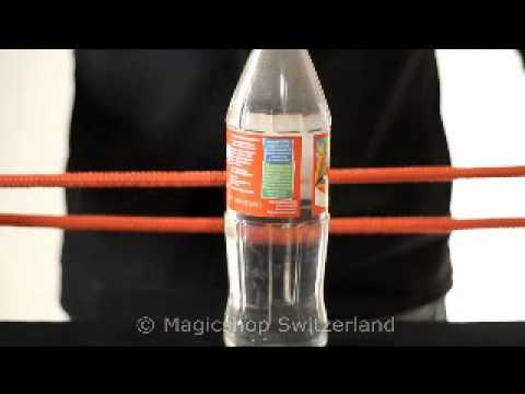 Rope thru Bottle Magic Trick explained