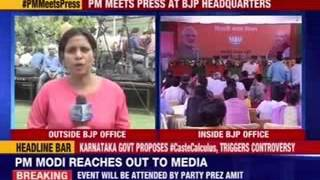 PM Narendra Modi to meet the press at Delhi BJP office - NEWSXLIVE