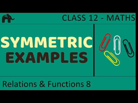 Maths Relations & Functions part 8 (Example Symmetric) CBSE class 12 Mathematics XII