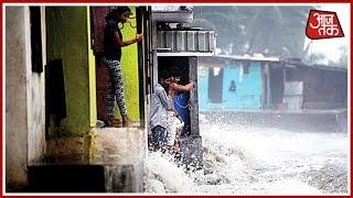 Monsoon की सबसे लंबी लहरों से डरी Mumbai; समुद्र में करीब 5 मीटर ऊंचा High Tide - AAJTAKTV