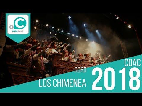 La agrupación Los Chimenea llega al COAC 2018 en la modalidad de Coros. En años anteriores (2017) concursaron en el Teatro Falla como El batallón Fletilla, consiguiendo una clasificación en el concurso de Segundo Premio.