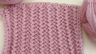 Вязание спицами для начинающих. Французская резинка /// Knitting for beginners. Rick Rack Pattern