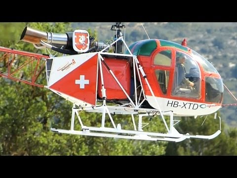 BIG Scale RC Turbine Helicopter SA-315B Lama