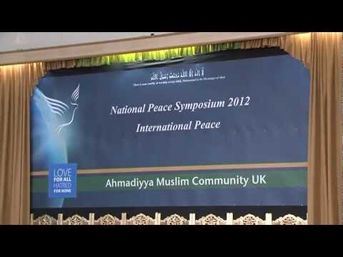 Ahmadiyya Muslim UK Peace Symposium 2012