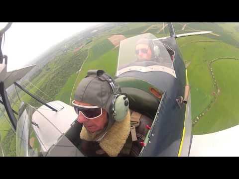 Stampe SV4 flight, with aerobatics - Paul Adlam