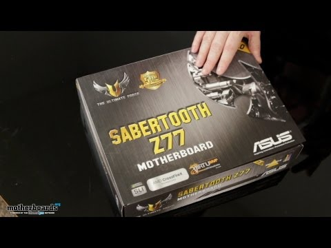 ASUS Sabertooth Z77 Motherboard Unboxing & Hands-On Overview (Ivy Bridge)