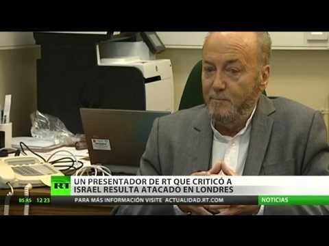 Atacan en Londres al presentador de RT George Galloway por su crítica contra Israel