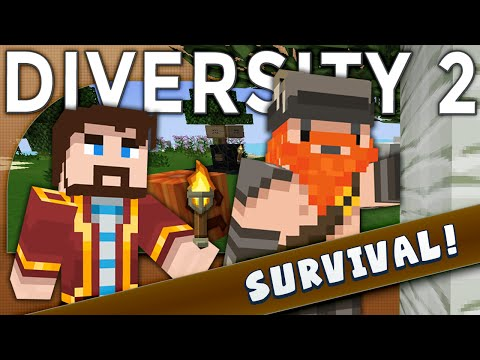 Minecraft - Diversity 2  - Doing It Dwarf Style (Survival)