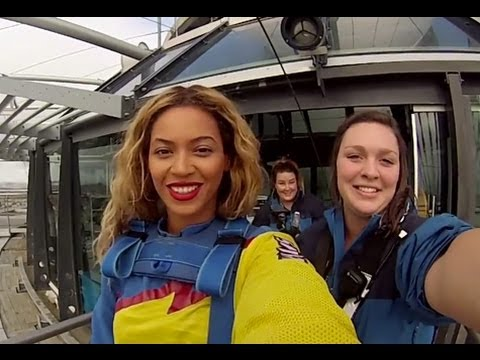 Beyonce   Bungee Jumping(skydiving) off the Auckland Sky Tower in New Zealand