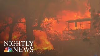Wildfire Burns 75,000 Acres Near Yosemite National Park | NBC Nightly News - NBCNEWS