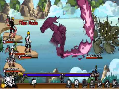 Ninja saga - Level 55 boss - Battle Turtle