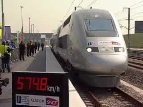 World's Fastest Rail Train TGV 574.8 KPH