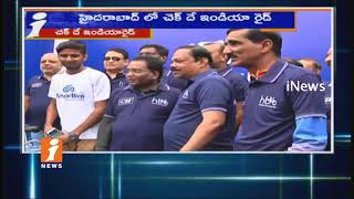 I&PR Commissioner Navin Mittal Attend In Chak De India Cycle Ride In Hyderabad | iNews - INEWS