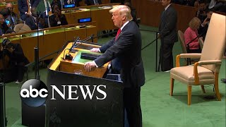 World leaders appear to laugh at Trump at UN - ABCNEWS