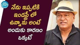 Rajendra Prasad - I constantly adapt myself with the Generations | Talking Movies With iDream - IDREAMMOVIES