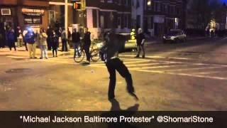 متظاهرو بالتيمور يستحضرون روح مايكل جاكسون