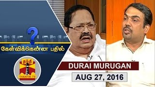 Kelvikku Enna Bathil 28-08-2016 Exclusive Interview with Durai Murugan, DMK Vice President – Thanthi TV Show Kelvikkenna Bathil