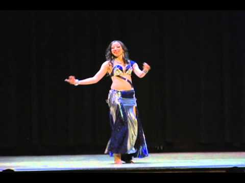 Nada El Masriya performing at the Egyptian Dance Academy Gala Show