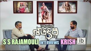 S S Rajamouli interviews Krish for Gautamiputra Satakarni - idlebrain.com - IDLEBRAINLIVE