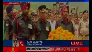 Uttarakhand: Last rites of Sepoy Vikas Gurung in Rishikesh, who lost his life in Nowshera sector - NEWSXLIVE