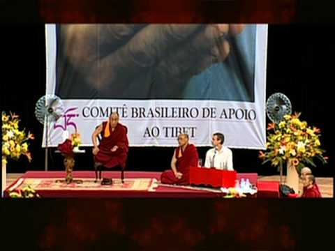 Dalai Lama Curitiba 1999 Different levels of happiness