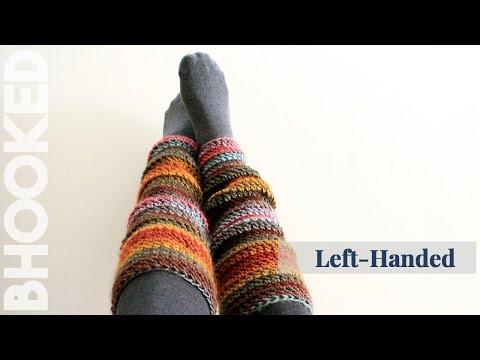 Beginner Crochet Leg Warmers Left Handed