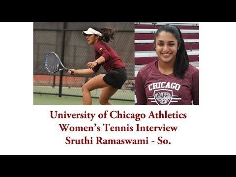 UChicago Athletics: Women's Tennis Interview with Sruthi Ramaswami (4-23-2014)