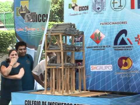 1er. Concurso Estatal de Edificios de Palitos de Madera en Mesa Vibradora