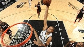 Tim Duncan's Big Dunk Over Mario Chalmers