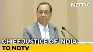 """I'm Not A Politician Or Diplomat To Keep Smiling"": Chief Justice To NDTV - NDTV"