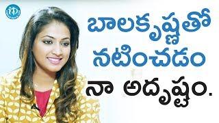 Hariprriya About Balakrishna || Star Talks With Sandy - IDREAMMOVIES