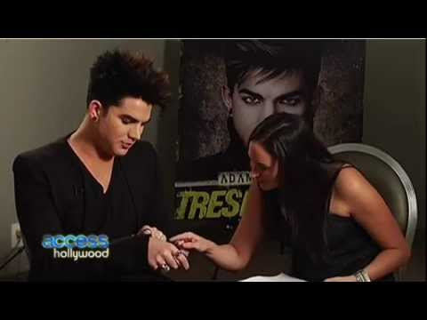 Access Hollywood ADAM LAMBERT Answers Fan Questions 1-25-12 Dish of Salt