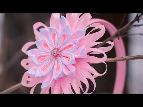 Цветы Канзаши мастер Класс