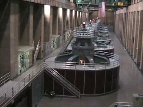 Inside Hoover Dam - Hydroelectric Power Plant