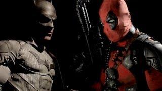 Super Power Beat Down Deadpool Vs. Batman