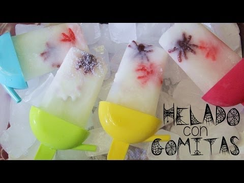 Helados de araña! Especial Halloween (Fácil) | Cómo hacer helado de gomitas.