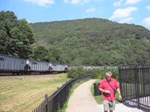 Minor Leauge BaseBall & Trains Oh My! - Train heading down to Altoona