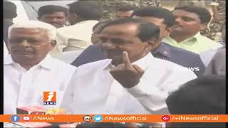 Voters Protest Over Missing Votes | KCR Casts His Vote With His Wife in Siddepet | iNews - INEWS
