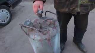 Ресивер для компрессора из газового баллона. Покраска. Ресивер для покраски своими руками.