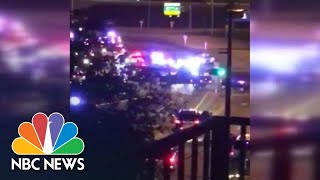Witness Captures Sound Of Dozens Of Shots Fired Near Miami Airport | NBC News - NBCNEWS