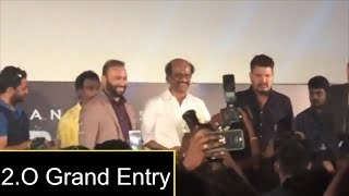Rajnikanth, Akshay Kumar  Grand Entry  At Robot 2.O Trailer Launch | A R Rahman | Shankar - RAJSHRITELUGU