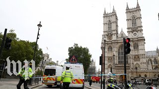 Several pedestrians injured after car crashes outside Britain's Houses of Parliament - WASHINGTONPOST