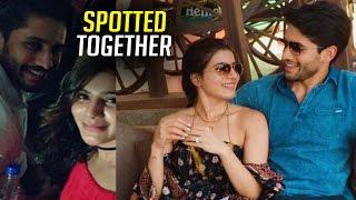 Naga Chaitanya and Samantha Spotted Together   TFPC - TFPC