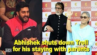 Abhishek shuts down Troll criticizing his staying with parents - IANSLIVE