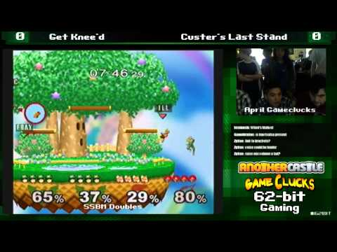 SSBM 2v2 Get Knee'd vs Custer's Last Stand April Gameclucks