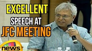 Undavalli Arun Kumar Excellent Speech at JFC Meeting, Blames Congress Party | Mango News - MANGONEWS